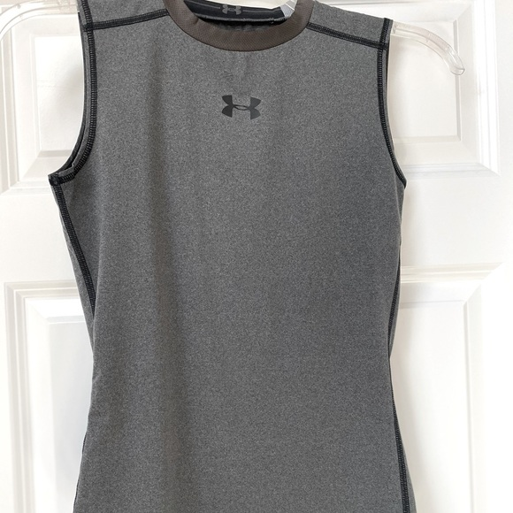 Boys under Armour sleeveless fitted shirt sz large